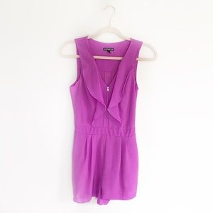 Express Purple Romper with Pockets